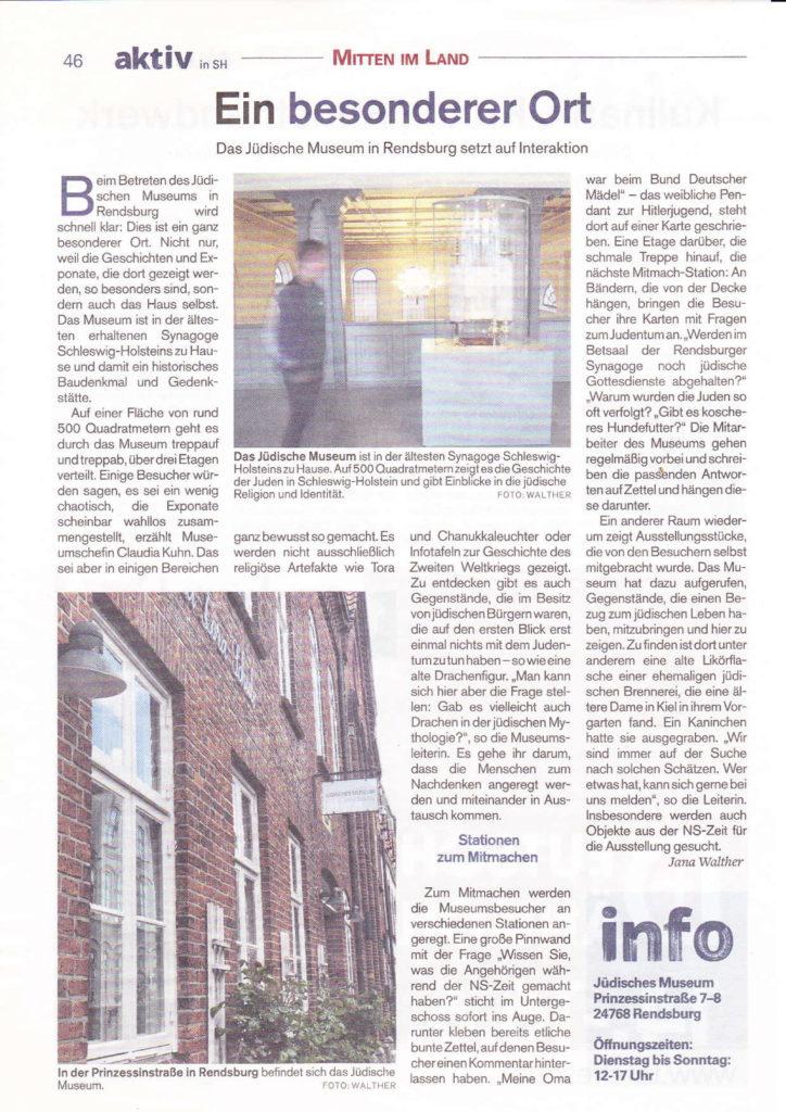 Besuch des Jüdischen Museums in Rendsburg @ Bahnhof Ahrensburg
